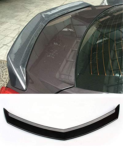 Fandixin ATS Spoiler, Carbon Fiber V Style Rear Trunk Deck Lip Boot Spoiler Wing for Cadillac ATS 4-Door Sendan 2013-2017