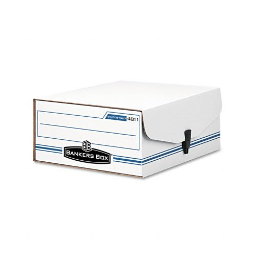 Bankers Box : Liberty Binder-Pak File Box, Ltr, Fileboard, 9-1/8 x 11-3/8 x 4-3/8, White/Blue -:- Sold as 2 Packs of - 1 - / - Total of 2 Each ()