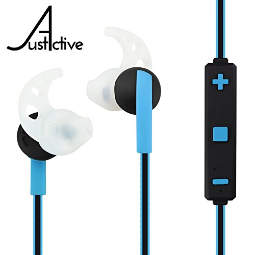 Fit Active Earbuds - Just Active CLEARANCE SALE Bluetooth Headphones for Workout, Super Comfortable Wireless Exercise Earbuds for Sports, Gym & Running, Secure Stay in Ear Fit, MIC, Stereo, 4K Calls, Sweat Proof
