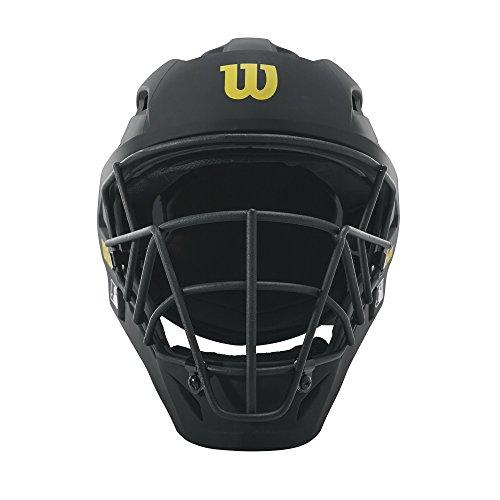 Wilson Pro Stock Titanium Umpire Helmet, Black, 7