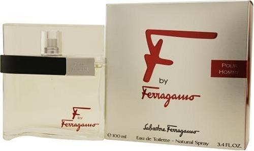 F Pour Homme by Salvatore Ferragamo 100ml 3.4oz EDT Spray by Salvatore Ferragamo (Ferragamo Pour Homme Edt)