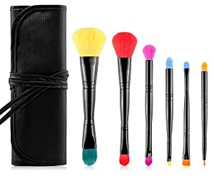 Double Side Soft Cosmetic Makeup Brush Set 6pcs
