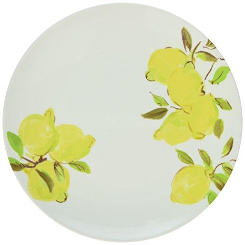 Kate Spade New York 176430 Lemon Melamine Salad/Accent Plate, Bright Yellow