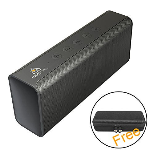 Listener Wireless Tv Amplifier (Portable Bluetooth Speakers, RAVEtone 20W Wireless HD Stereo Speaker with Enhanced Bass Build-in MIC Hands-free Call Dual 10W Drivers 33FT Bluetooth 4.2 for Home Beach Party Travel Camping (Black))