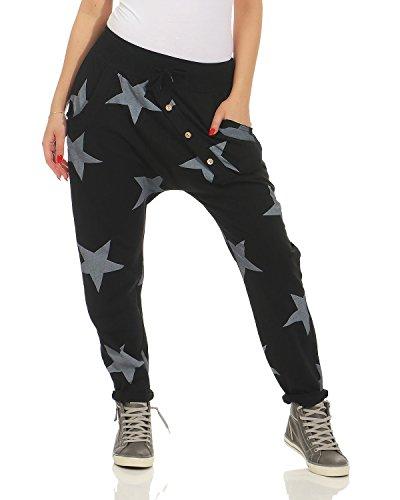 Boyfriend sportivi Pantaloni cotone Yogapants ZARMEXX Pantaloni in da Jogger bottoni donna con jogging Vestibilit Pantaloni larghi da sportivi 85I5qd