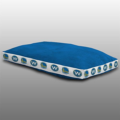 Sports Coverage NBA Golden State Warriors Dog Bed, 26 x 37, Bright Blue by Sports Coverage