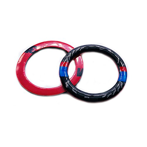 Carbon Fiber Car Engine Start Stop Ignition Key Ring Sticker for BMW E90 E92 E93 3 Series Engine Start Button Cover