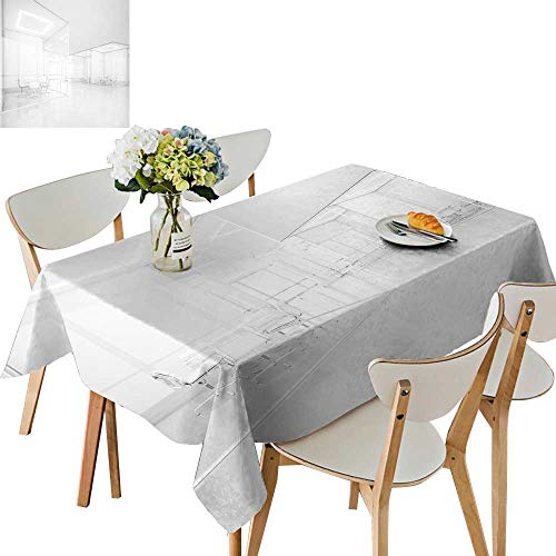 Price comparison product image UHOO2018 Tablecloth White Office Space Square / Rectangle Table Cover, 50 x106inch