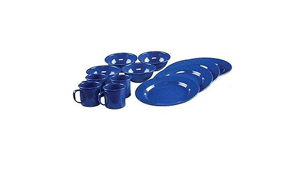 Coleman 12 Piece Enamelware Dining Set Blue 2000016404 ...