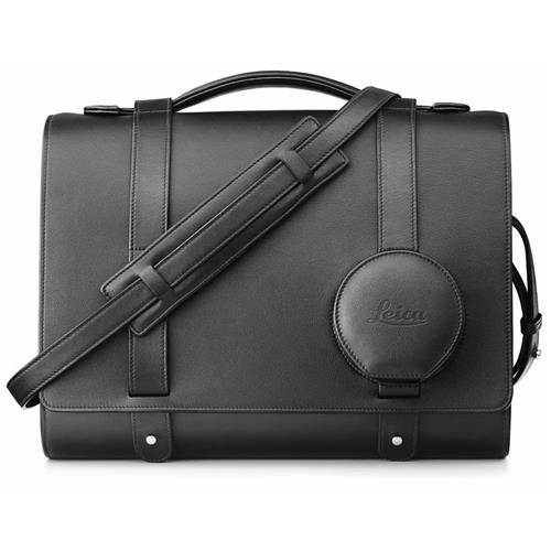Leica Day Bag for Q Compact Camera, Leather, Black by Leica