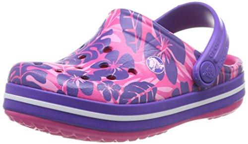 UPC 887350364170, crocs Crocband Tropical Print K Clog (Toddler/Little Kid),Candy Pink/Ultraviolet,10 M US Toddler