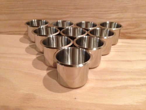 Build your own poker tables 10 stainless steel poker table cup holders welcome to poker tables - Build your own poker table ...