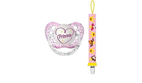 Amazon.com : Ulubulu Pacifier with Clip, Princess : Baby