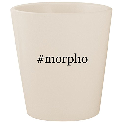 Slim Wallet Ultimo - #morpho - White Hashtag Ceramic 1.5oz Shot Glass