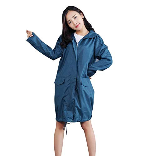 Respirable Impermeable Viento Hooded Prueba Con Mujer Blau Lady A De Funcional Casual Para rggZHqE