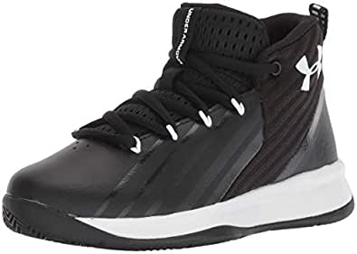 (Little Kid (4-8 Years), 12K, Black (002)/White) - Under Armour Kids' Pre School Launch Basketball Shoe