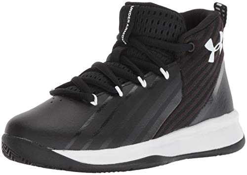 Under Armour Boys' Pre School Launch Basketball Shoe, Black (002)/White, - Big Jordan Basketball Shoes Kids
