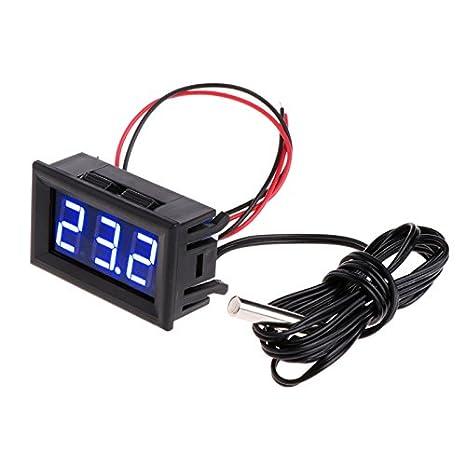 JAGETRADE Herramientas de Jardín -50~110°c DC 12v Digital LED Termómetro Monitor de Temperatura de Coche Panel Medidor: Amazon.es: Hogar