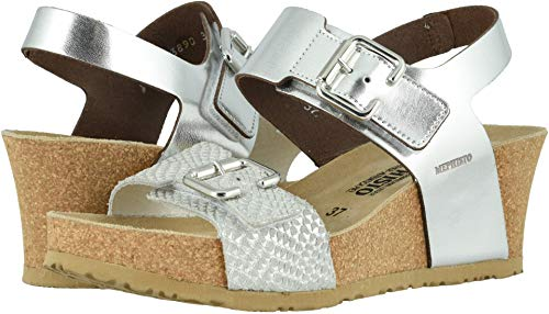 Mephisto Womens Lissandra Nickel Star/White Cuba Sandal - 10