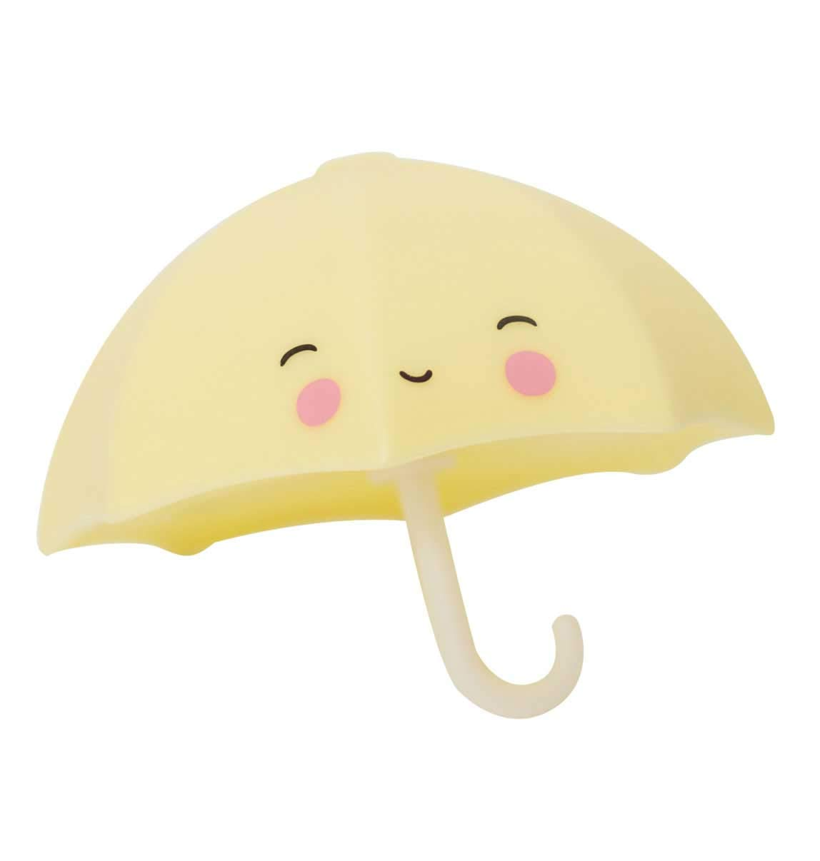 A Little Lovely Company Bath Toy Umbrella btumyl02, Toy Bath in The Form of Umbrella, 9x 7x 9cm
