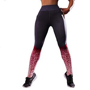 Goosuny Women's Printed Leggings Full-Length Yoga Pants Leggings Training Sport Workouts Fitness Pants Capris Women's Printed Panel High Waist Leggings Skinny Workout Yoga Pants