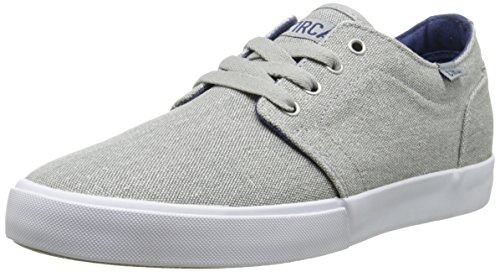 Circa Athletic Sneakers - C1RCA Drifter Skate Shoe, Grey Washed/White, 12 M US