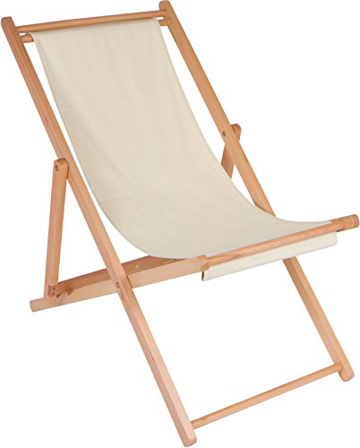 "27"" Adjustable Folding Wood Cabana Beach Chair By Trademark Innovations"