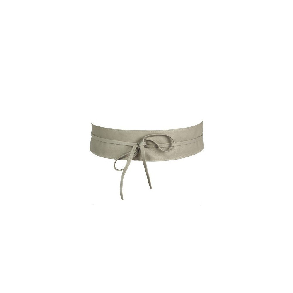 Ceinture pour femme, large à nouer en cuir de vachette - Accessoire Tendance  OLIVIA - ba2056c0709