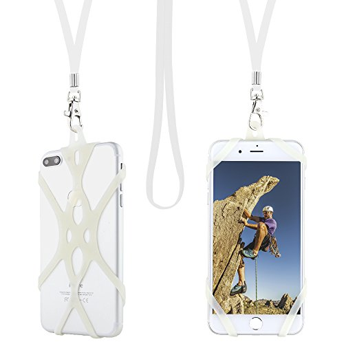 Gear Beast Universal Web Cell Phone Lanyard Compatible with iPhone, Galaxy & Most Smartphones Includes Phone Case Holder, Shoelace Neck -