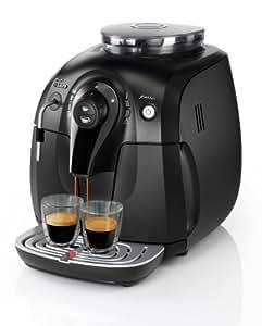 Saeco Xsmall - Cafetera espresso automática, con espumador de leche clásico, color negro