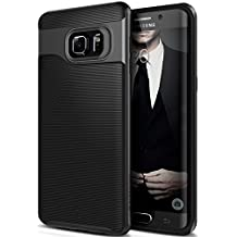 Galaxy S6 Edge Plus Case, Caseology [Wavelength Series] Slim Dual Layer Protection Textured Grip Protective Cover [Black] for Samsung Galaxy S6 Edge Plus