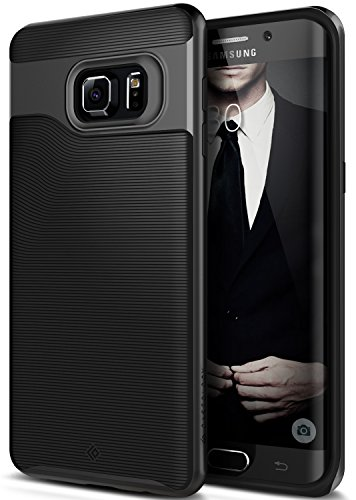 Galaxy S6 Edge Plus Case, Caseology [Wavelength Series] Slim Dual Layer Protective Textured Grip Corner Cushion Design [Black] for Samsung Galaxy S6 Edge Plus