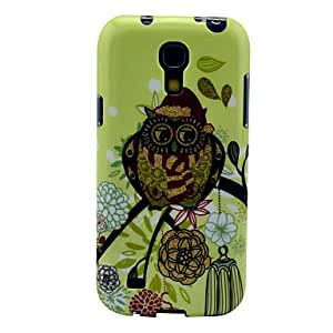 TOPMM Christmas Hat Owl Pattern Back Cover TPU Soft Case for Samsung Galaxy S4 Mini I9190