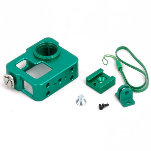 Quality Aluminum Protective Case Shell Housing For Gopro Hero 3 Hero 3+ (Green)