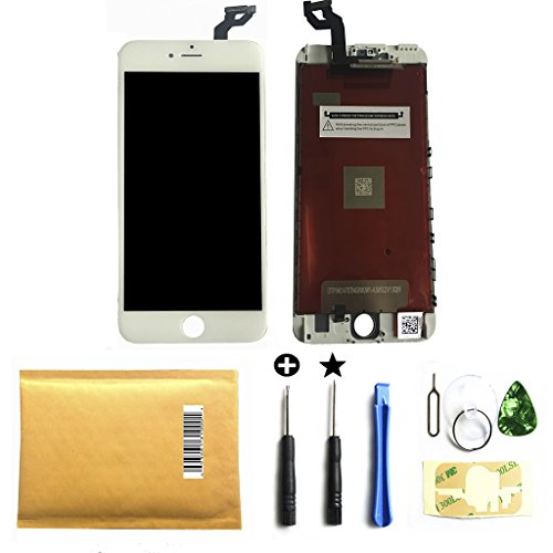 ZTR for iPhone 6S Plus Screen Replacement 3D Touch LCD Touch Screen Digitizer Frame Assembly Set (White)