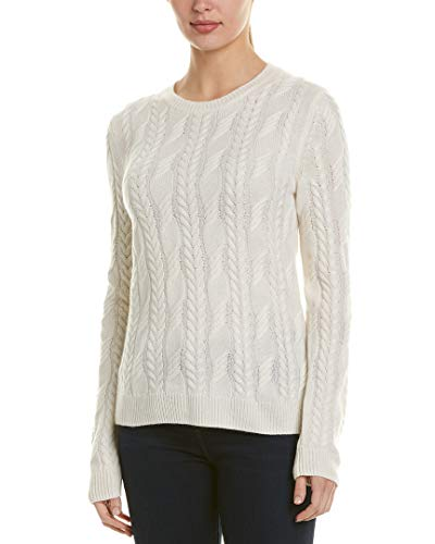 Brooks Brothers Womens Cashmere Sweater, S, White