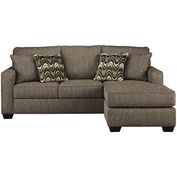 Amazon Com Ashley Braxlin Sofa Chaise In Charcoal