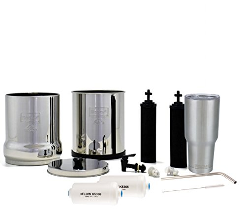Big-Berkey-Water-Filter-System-with-2-Black-Purifier-Filters-2-Gallons-Bundled-with-1-set-of-Fluoride-PF2-Filters-and-1-Double-Walled-30-oz-Stainless-Steel-Tumbler-Cup