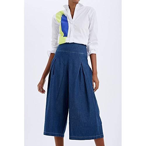 Calça Pantacout Jeans Detalhe Jeans - 38