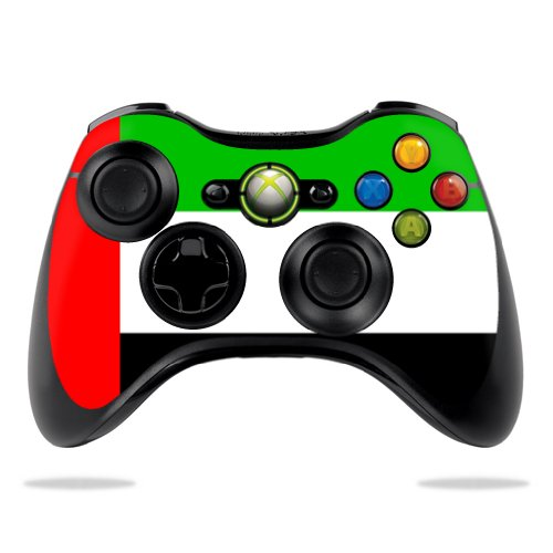 Protective Vinyl Skin Decal Cover for Microsoft Xbox 360 Controller wrap sticker skins United Arab Emirates Flag