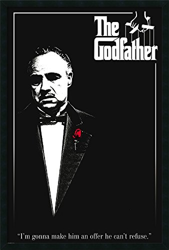 Framed Scarface Movie Poster - Framed Art Print, 'Godfather - Red Rose': Outer Size 25 x 37