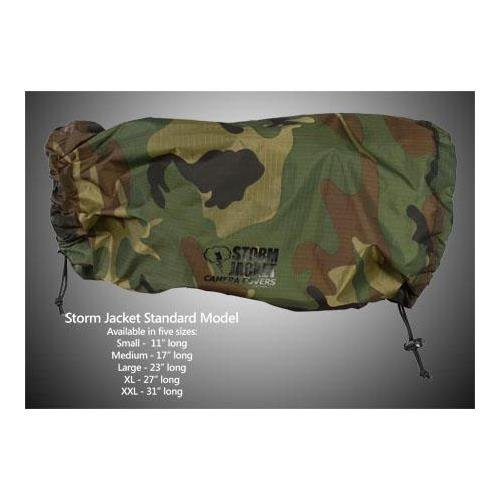 Vortex Media Storm Jacket Cover for an SLR Camera with a Long Lens Measuring 14'' to 23'' from Rear of Body to Front of Lens, Color Camo by Vortex