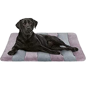 JoicyCo Large Dog Bed Crate Pad 42 in Mat 100% Washable Anti-Slip Dog Matress Kennel Pads 11