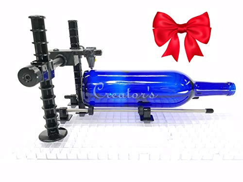 Creator's Over-The-TOP - Advanced Artist's Glass Bottle Cutter - Precision Professional Instrument - Cuts Beer, Wine Bottles, Bottle Necks, and Neck Contours - Born and Made in The USA