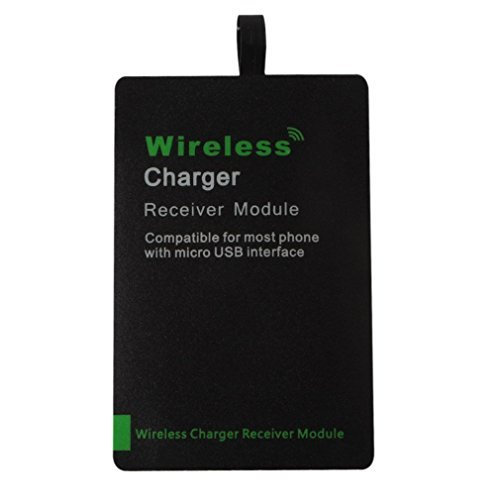 DiGiYes Update 1A Ultra Slim Compatible Wireless Charging Receiver Module with Micro USB?Wide side upwards, narrow side downwards?