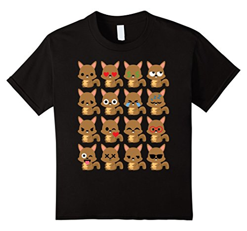 [Kids Squirrel Emoji Different Face Shirt T-Shirt Tree Rodent Tee 4 Black] (Chipmunk Squirrel Costume Party)