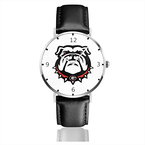 - Men's Fashion Minimalist Wrist Watch Georgia Bulldogs Leather Strap Watch
