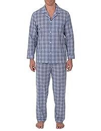 Geoffrey Beene Mens Broadcloth Long Sleeve Pajama Set Pajama Set
