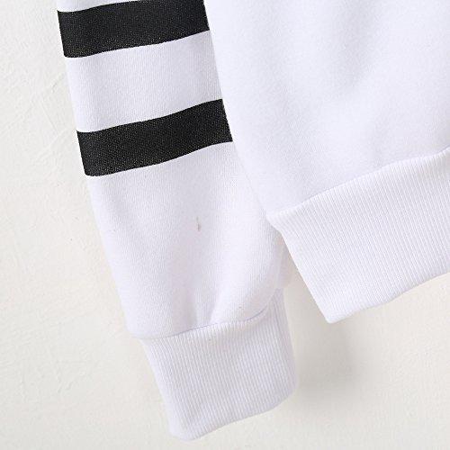 Chic Shirt Gilet Rayures et a Femme Femme Weant Femme Pull Femme Veste Blanc Blouses Grande Pull Chemisier Longues Sweat Taille Couleur Femme U Pure Capuche Manches Imprim Col Chemisiers qwq8BnaH