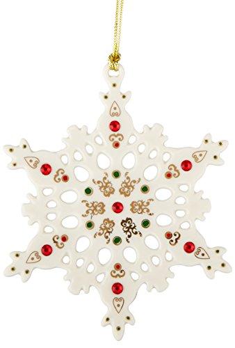 (Lenox China Jewels Snowflake Ornament)